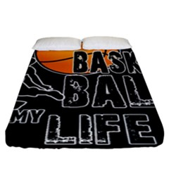 Basketball Is My Life Fitted Sheet (king Size) by Valentinaart