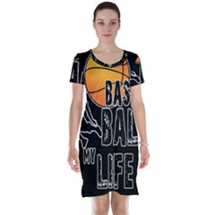 Basketball Is My Life Short Sleeve Nightdress by Valentinaart