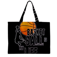 Basketball Is My Life Medium Tote Bag by Valentinaart
