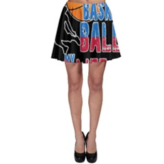 Basketball is my life Skater Skirt