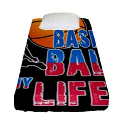 Basketball is my life Fitted Sheet (Single Size)