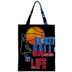 Basketball is my life Zipper Classic Tote Bag