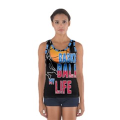Basketball is my life Women s Sport Tank Top