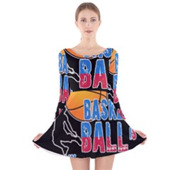 Basketball is my life Long Sleeve Velvet Skater Dress