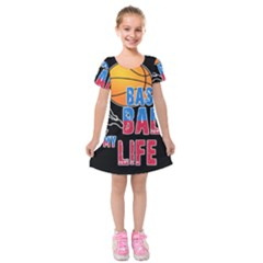 Basketball is my life Kids  Short Sleeve Velvet Dress