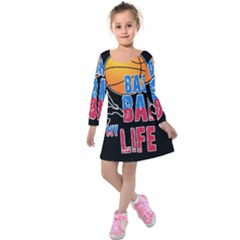 Basketball is my life Kids  Long Sleeve Velvet Dress
