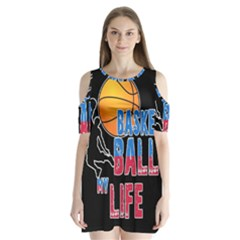 Basketball is my life Shoulder Cutout Velvet  One Piece