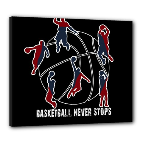 Basketball Never Stops Canvas 24  X 20  by Valentinaart