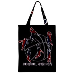 Basketball Never Stops Classic Tote Bag by Valentinaart