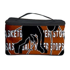 Basketball Never Stops Cosmetic Storage Case by Valentinaart