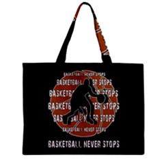 Basketball Never Stops Zipper Mini Tote Bag by Valentinaart