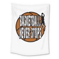 Basketball Never Stops Medium Tapestry by Valentinaart