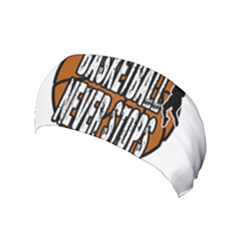 Basketball Never Stops Yoga Headband by Valentinaart
