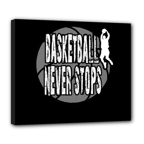 Basketball Never Stops Deluxe Canvas 24  X 20   by Valentinaart
