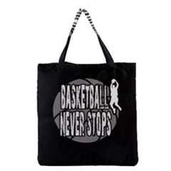 Basketball Never Stops Grocery Tote Bag by Valentinaart