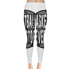 Basketball never stops Leggings  by Valentinaart