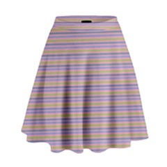 Decorative Lines Pattern High Waist Skirt by Valentinaart