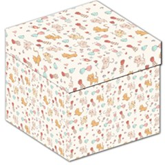 Kittens And Birds And Floral  Patterns Storage Stool 12   by TastefulDesigns