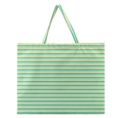 Decorative Lines Pattern Zipper Large Tote Bag