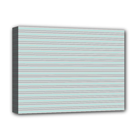 Decorative Lines Pattern Deluxe Canvas 16  X 12   by Valentinaart