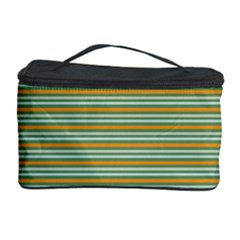 Decorative Line Pattern Cosmetic Storage Case by Valentinaart