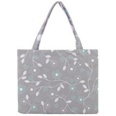 Floral Pattern Mini Tote Bag by Valentinaart