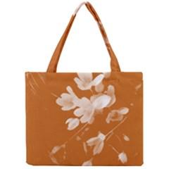 Autumn Crocus Orange Mini Tote Bag by DeneWestUK