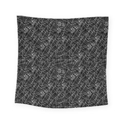 Linear Abstract Black And White Square Tapestry (small) by dflcprints