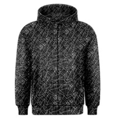 Linear Abstract Black And White Men s Zipper Hoodie by dflcprintsclothing