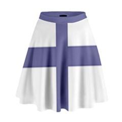 Greek Cross  High Waist Skirt by abbeyz71