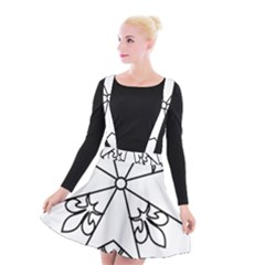 Huguenot Cross Suspender Skater Skirt