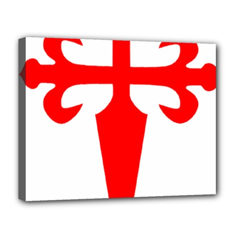 Cross Of Saint James  Canvas 14  X 11  by abbeyz71
