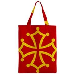 Flag Of Occitaniah Zipper Classic Tote Bag by abbeyz71