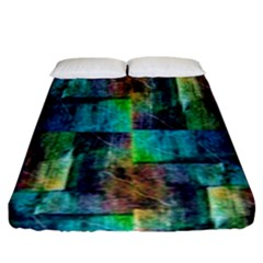 Abstract Square Wall Fitted Sheet (king Size) by Costasonlineshop