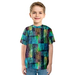 Abstract Square Wall Kids  Sport Mesh Tee