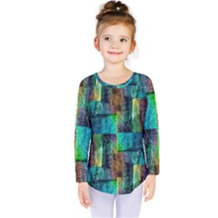 Abstract Square Wall Kids  Long Sleeve Tee by Costasonlineshop