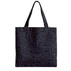 Pattern Zipper Grocery Tote Bag by Valentinaart
