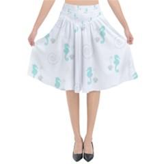 Pattern Flared Midi Skirt by Valentinaart
