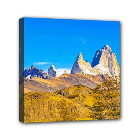 Snowy Andes Mountains, El Chalten, Argentina Mini Canvas 6  X 6  by dflcprints