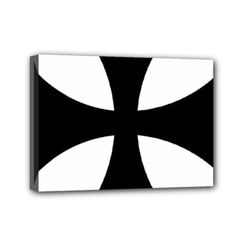 Cross Patty  Mini Canvas 7  X 5  by abbeyz71