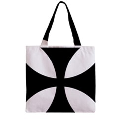 Cross Patty Zipper Grocery Tote Bag by abbeyz71