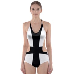 Cross Patty Cut Out One Piece Swimsuit