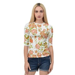Floral Dreams 12 D Quarter Sleeve Tee