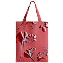 Amazing Floral Fractal B Zipper Classic Tote Bag by Fractalworld