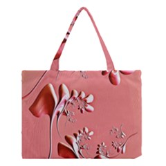 Amazing Floral Fractal B Medium Tote Bag by Fractalworld