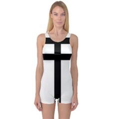 Patriarchal Cross One Piece Boyleg Swimsuit by abbeyz71
