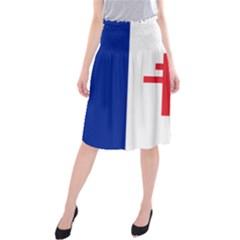 Flag Of Free France (1940 1944) Midi Beach Skirt