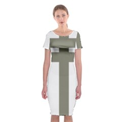 Cross Of Loraine Classic Short Sleeve Midi Dress by abbeyz71
