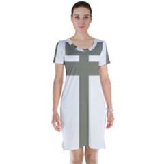 Cross Of Lorraine  Short Sleeve Nightdress by abbeyz71