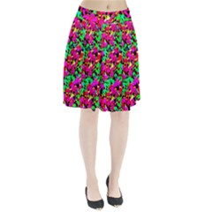 Colorful Leaves Pleated Skirt by Costasonlineshop